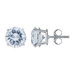 6.05 Carat Diamond Stud Earrings