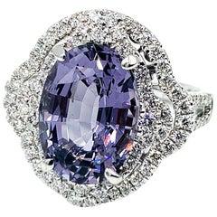 6.07 Carat Lavender Spinel Ring