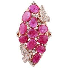 6.08 Carat Ruby Diamond 18 Karat Gold Ring