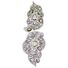 6.09 Carat Natural Pink Yellow Fancy Color Diamond Petal Ring
