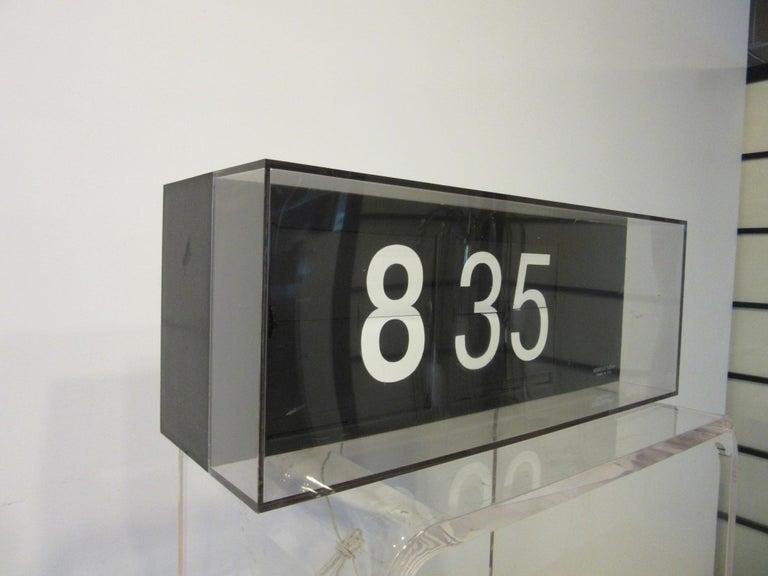 Mid-Century Modern 60's-70's Large Solari & C/Udine Flip Clock, Italy For Sale