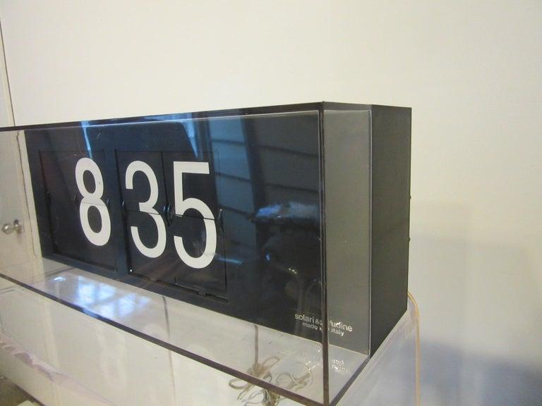 Italian 60's-70's Large Solari & C/Udine Flip Clock, Italy For Sale