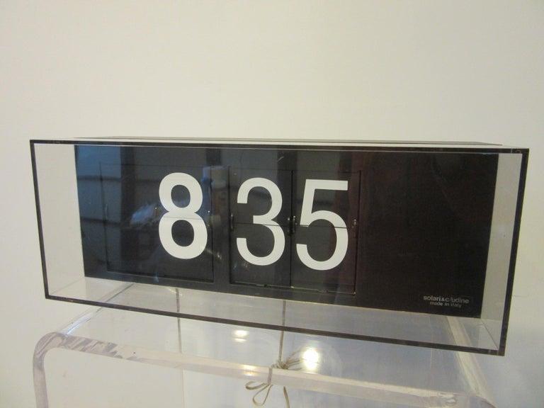 20th Century 60's-70's Large Solari & C/Udine Flip Clock, Italy For Sale