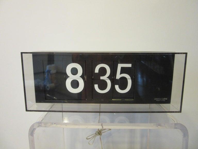 60's-70's Large Solari & C/Udine Flip Clock, Italy For Sale 2