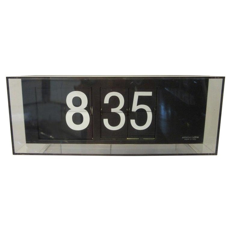 60's-70's Large Solari & C/Udine Flip Clock, Italy For Sale