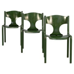 60s Augusto Savini 'Savini' Chairs for Pozzi Set/3