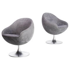 1960s B. Johanson 'Comet Cosmos' Swivel Chair for Johanson Design Set of 2