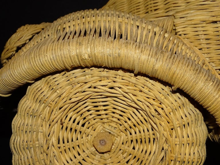 60s Beetle Car Rattan Sculture, Toy , Italy For Sale 4