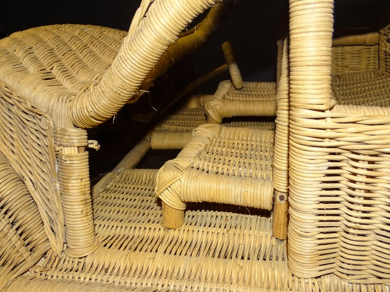 60s Beetle Car Rattan Sculture, Toy , Italy For Sale 6