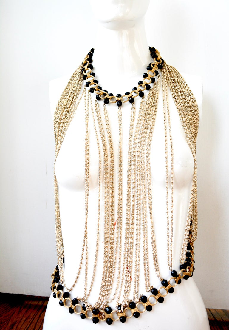 60s Body Chain Necklace / Halter  For Sale 1