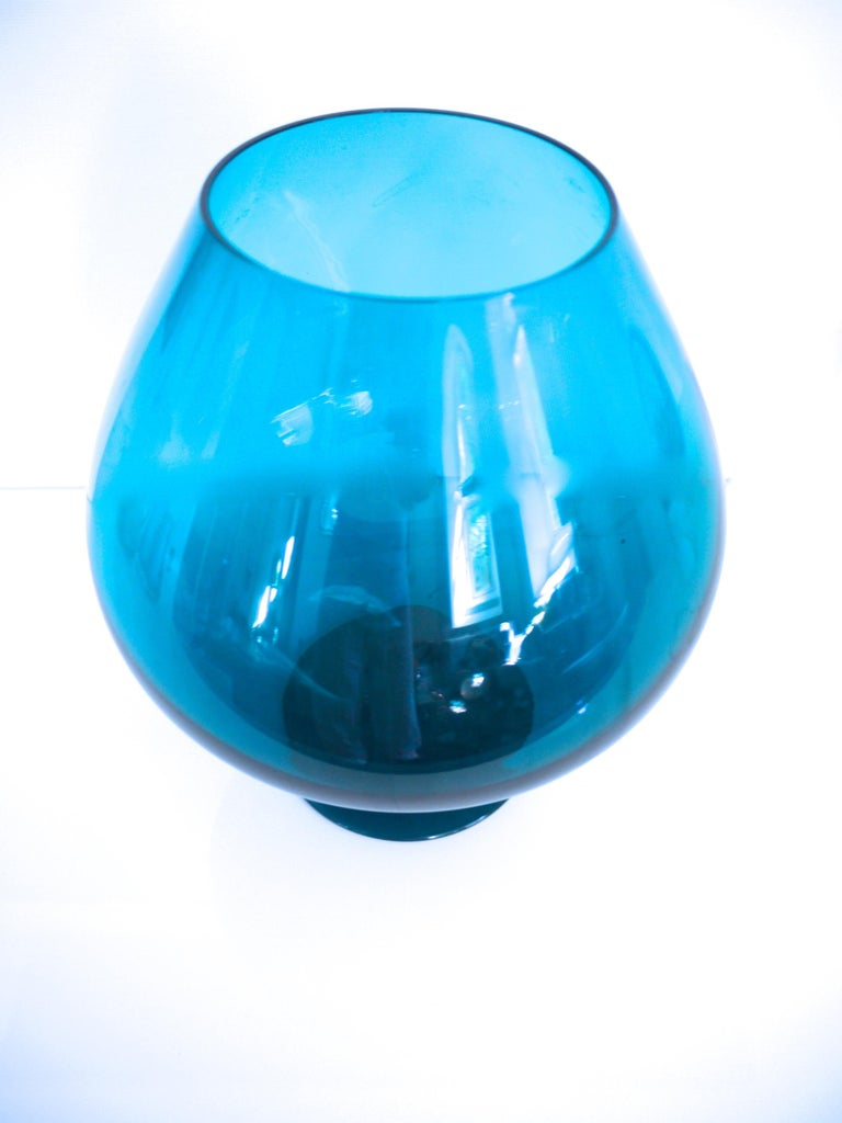 Blown Glass 1960s Brandy Glass Vase ELME Glasbruk and 'Party Kugel' W German Space Age For Sale