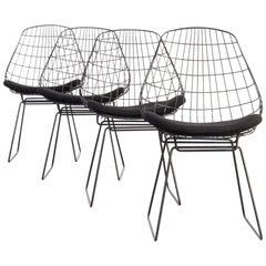 1960s Cees Braakman en Adriaan Dekker SM05 Wire Chair for Pastoe Set of 4