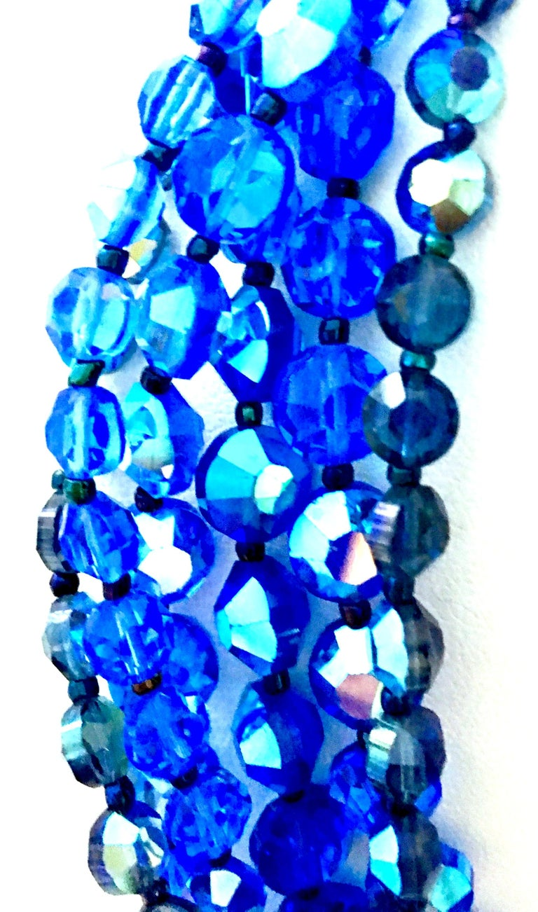 60'S Coppola E Toppo Style Five Strand Venetian Glass Bead Necklace For Sale 6