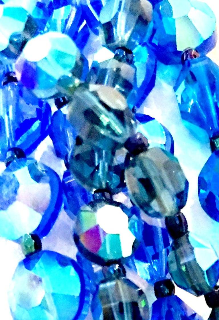 60'S Coppola E Toppo Style Five Strand Venetian Glass Bead Necklace For Sale 7