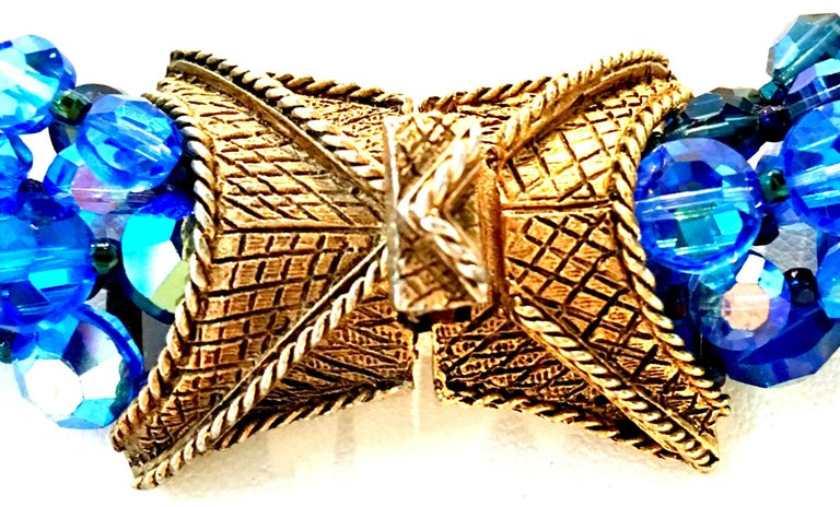 60'S Coppola E Toppo Style Five Strand Venetian Glass Bead Necklace For Sale 8