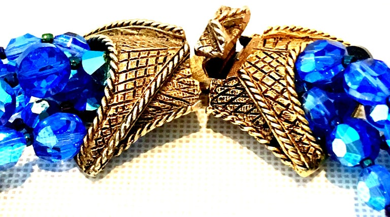 60'S Coppola E Toppo Style Five Strand Venetian Glass Bead Necklace For Sale 9