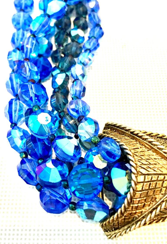 60'S Coppola E Toppo Style Five Strand Venetian Glass Bead Necklace For Sale 2