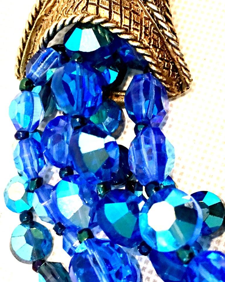 60'S Coppola E Toppo Style Five Strand Venetian Glass Bead Necklace For Sale 3