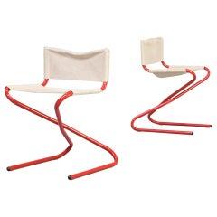 1960s Erik Magnussen 'c-chair' Foldable for Torben Orskov Set of 2