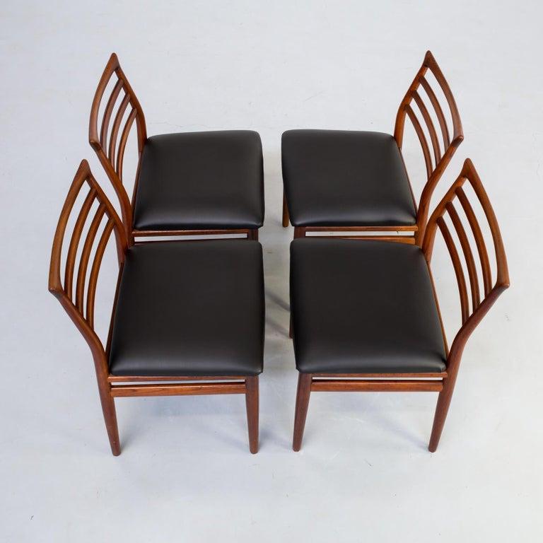 1960s Erling Torvits Dining Chair for Sorø Stolefabrik Set of 4 3