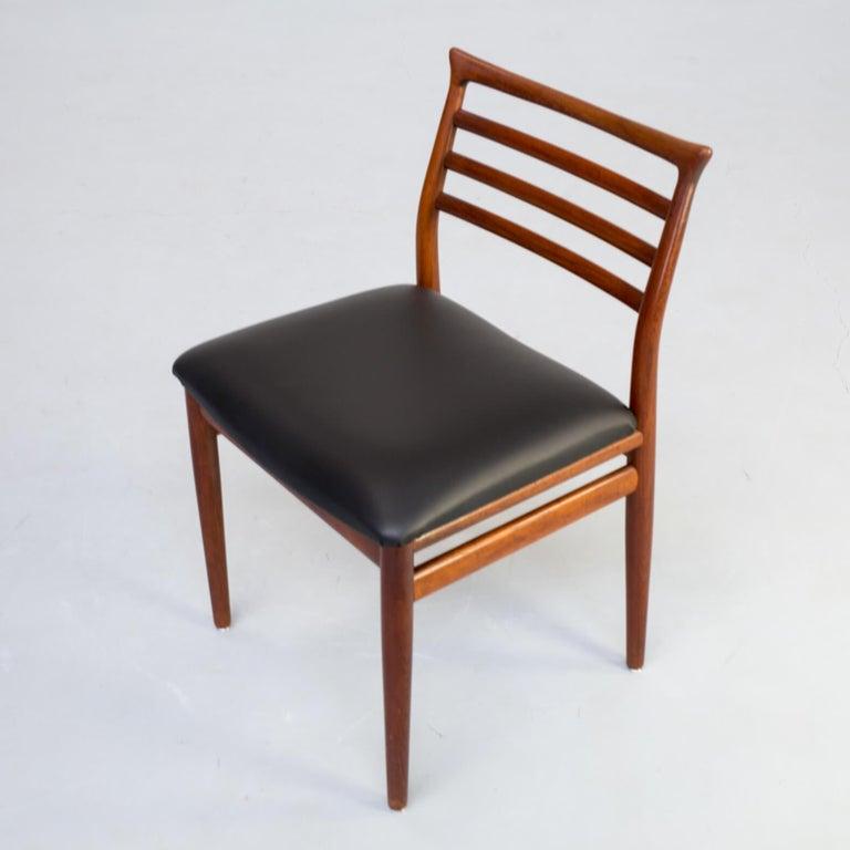 1960s Erling Torvits Dining Chair for Sorø Stolefabrik Set of 4 6
