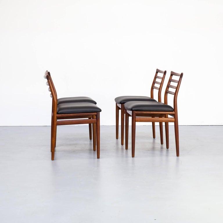 Mid-Century Modern 1960s Erling Torvits Dining Chair for Sorø Stolefabrik Set of 4