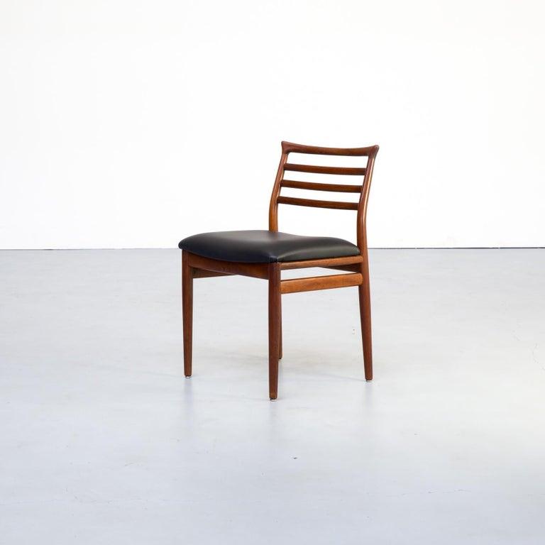1960s Erling Torvits Dining Chair for Sorø Stolefabrik Set of 4 In Good Condition In Amstelveen, Noord