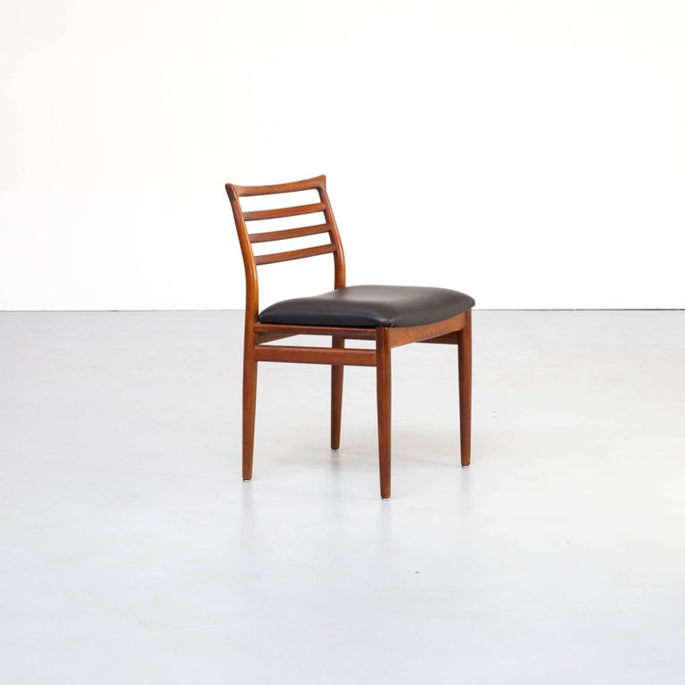 Faux Leather 1960s Erling Torvits Dining Chair for Sorø Stolefabrik Set of 4