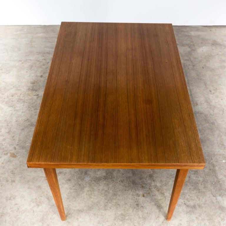 Teak Eettafel Sale.1960s Extendable Teak Dining Table