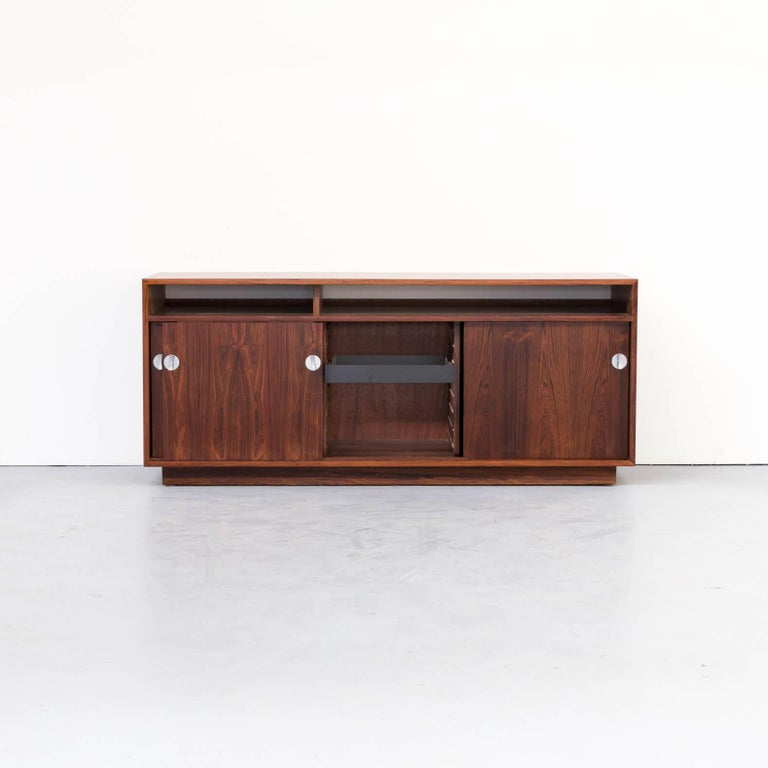 One beautiful rosewood lowboard matching in the diplomat office series of Cado designed by Finn Juhl.