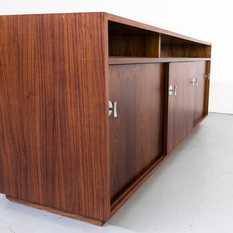 1960s Finn Juhl Rosewood Side, Lowboard from the Diplomat Series for Cado For Sale 3