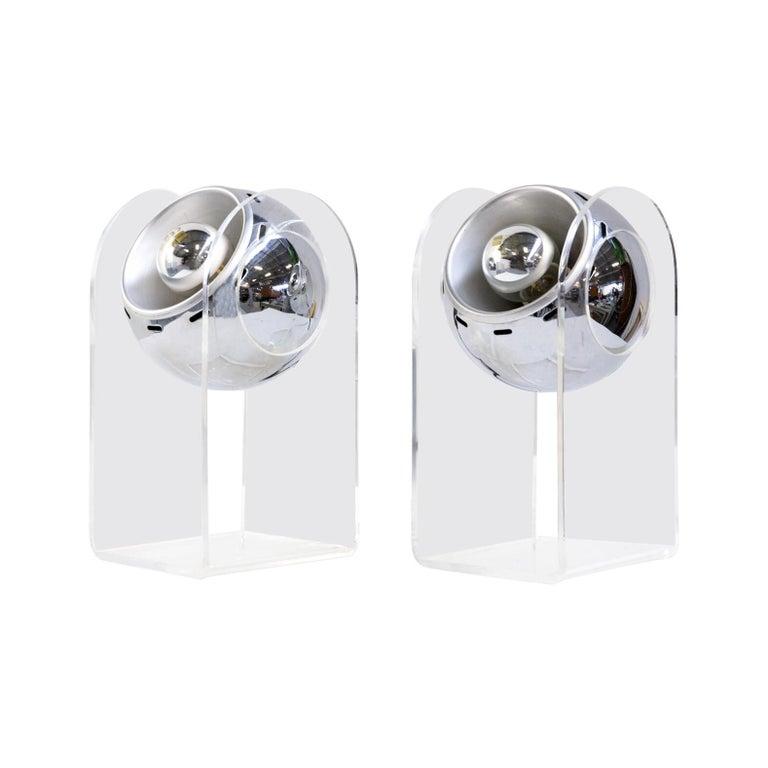 70s table lamp for Insta Sensorette set/2 For Sale