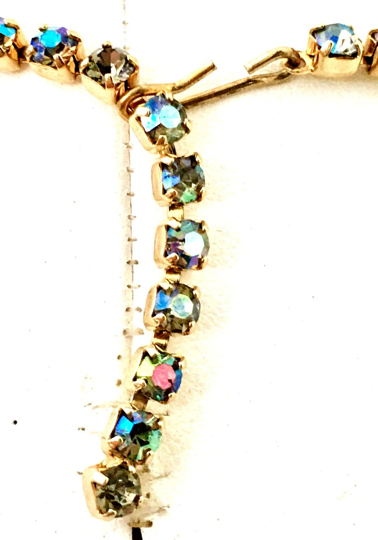 60'S Gold & Swarovski Crystal Necklace Earrings S/3 By Alice Caviness For Sale 9