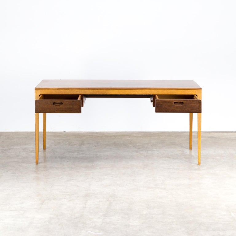 1960s Hartmut Lohmeyer executive writing desk for Wilkhahn. Good condition consistent with age and use.
