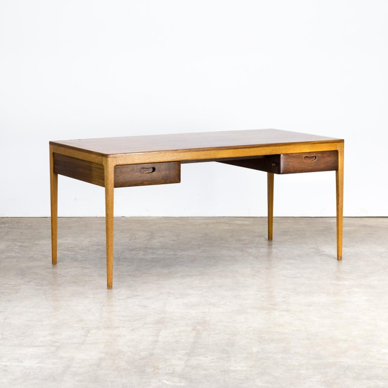 1960s Hartmut Lohmeyer Executive Writing Desk for Wilkhahn In Good Condition For Sale In Amstelveen, Noord