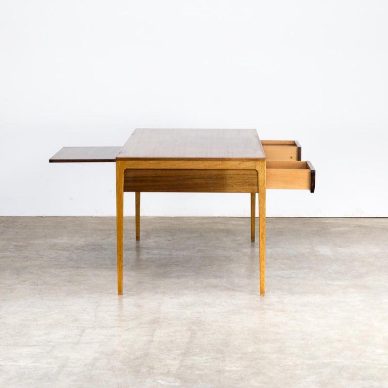 Oak 1960s Hartmut Lohmeyer Executive Writing Desk for Wilkhahn For Sale