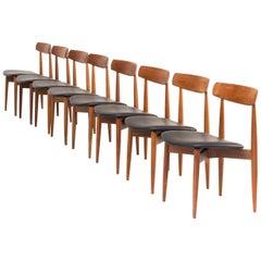 1960s Henry W. Klein Teak Dining Chair for Bramin, Set of 8