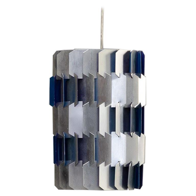 1960s Louis Weisdorf 'facet' Hanging Lamp for Lyfa