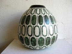60s Modernist Ruscha Studio Ceramic Pottery Monumental Vase West Germany Bauhaus
