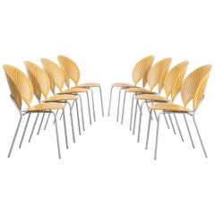 1960s Nanna Ditzel '3258' Chair for Fredericia Stolefabrik Denmark Set of 8