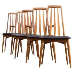 60s Niels Koefoed 'eva' dining chair for Koefoed Hornslet set/5