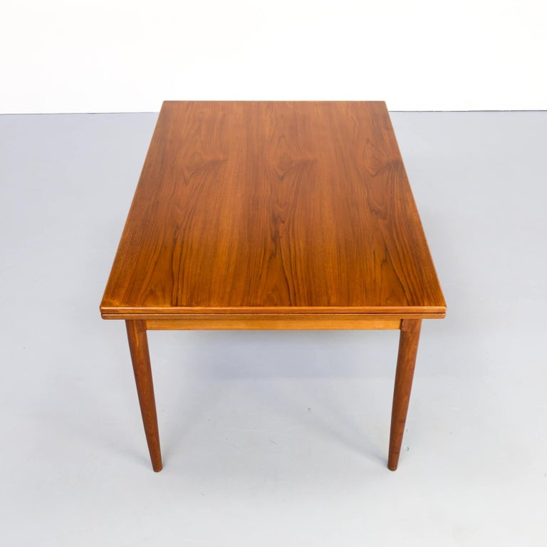 1960s Niels Otto Møller Extendable Dining Table 'Model No 12' for J.L. Møllers In Good Condition In Amstelveen, Noord