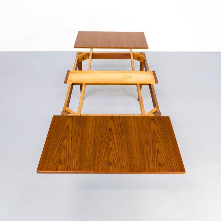 1960s Niels Otto Møller Extendable Dining Table 'Model No 12' for J.L. Møllers 1