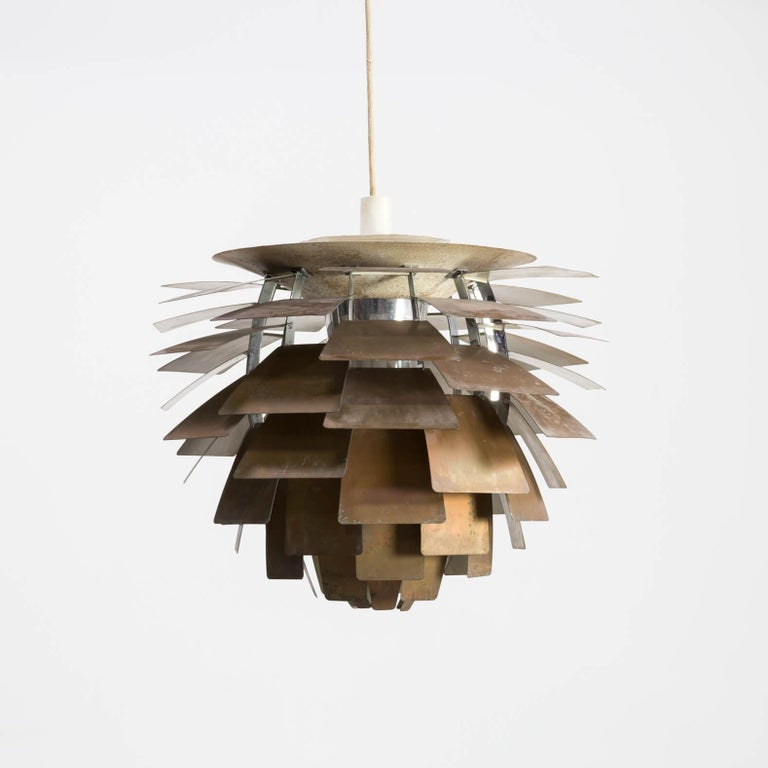 Mid-Century Modern 1960s Poul Henningsen 'Artichoke' Pendant Lamp for Louis Poulsen