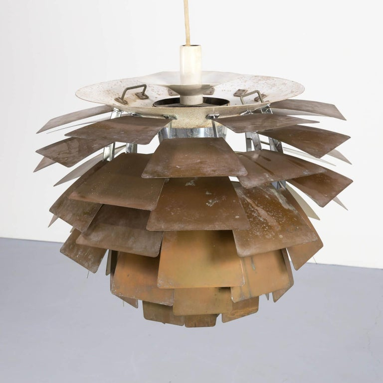 Danish 1960s Poul Henningsen 'Artichoke' Pendant Lamp for Louis Poulsen