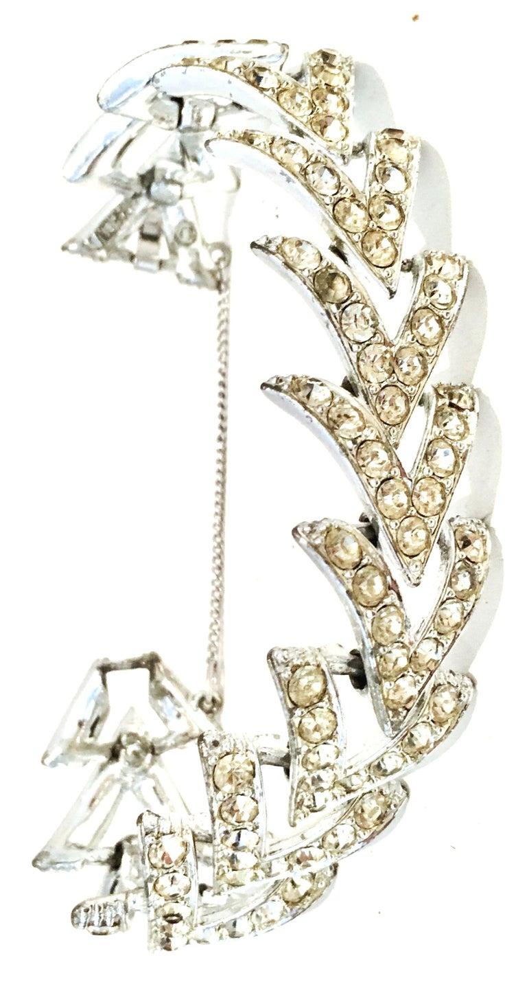 Women's or Men's 60'S Silver & Swarovski Crystal
