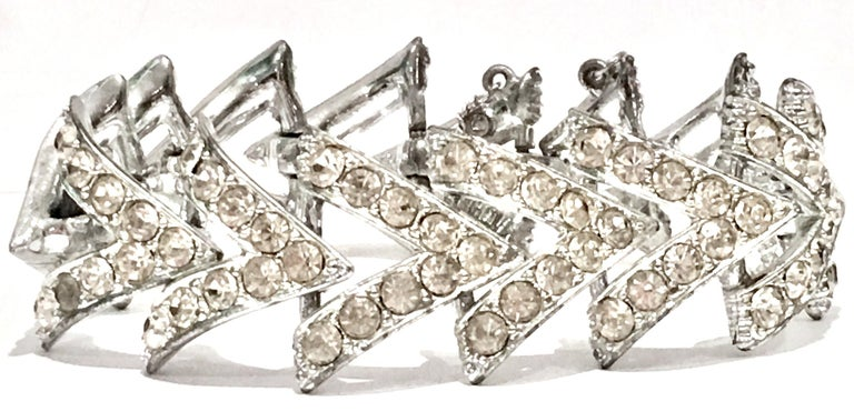 1950'S Rare & Coveted Silver & Swarovski Crystal