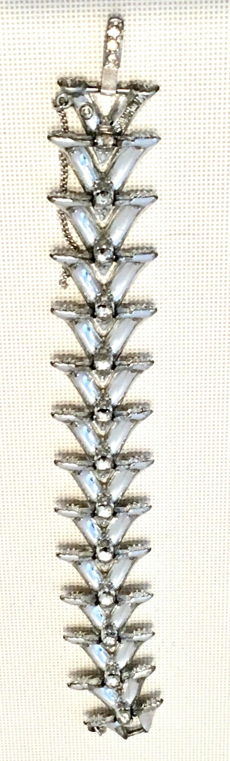 60'S Silver & Swarovski Crystal