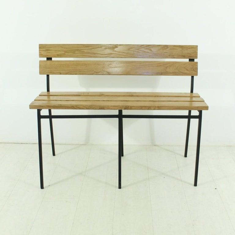 1960s Vintage Oak Bench 2