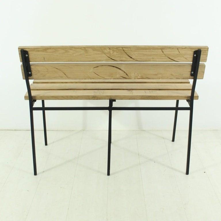 1960s Vintage Oak Bench 4